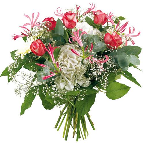 Bouquet de fleurs roses et blanches centerblog for Bouquet fleurs blanches