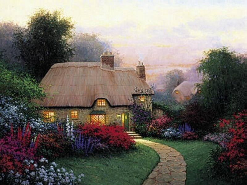 Une belle maison et son jardin fleuri for Jardin fleuri maison